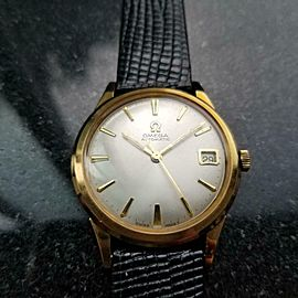Men's Omega 10k Gold-Capped Date Automatic cal.560 c.1964 Swiss Vintage LV400BLK