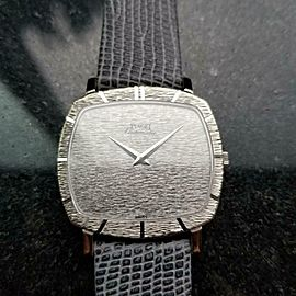 Men's Piaget 18k White Gold cal.12P1 Automatic Dress Watch c.1970s Swiss LV877