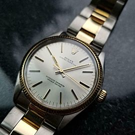 Men's Rolex 18K & SS Oyster Perpetual 1005 Automatic, c.1981 Swiss Luxury LV718