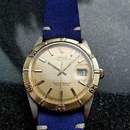 "Men's Rolex 1625 Datejust ""Thunderbird"" 18k Gold & ss, c.1966 Vintage LV893BLU"