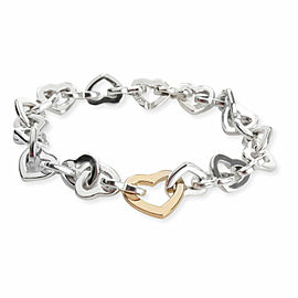 Tiffany & Co. Heart Links Bracelet in 18K Yellow Gold/Sterling Silver