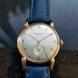Men's Vacheron & Constantin Rare 18K Gold Hand-Wind Dress Watch c.1950s LV598BLU