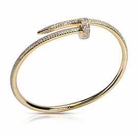Cartier Juste un Clou Diamond Bracelet in 18K Yellow Gold 2.26 CTW