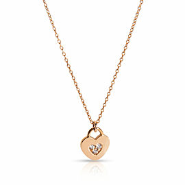 Tiffany & Co. Locks Heart Diamond Necklace in 18K Rose Gold 0.05 CTW