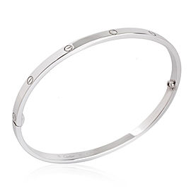 Cartier Love Bracelet in 18K White Gold Size 19