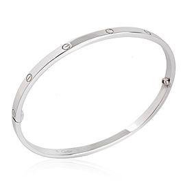 Cartier Love Bracelet in 18K White Gold Size 19