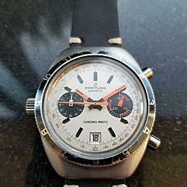 Men's Breitling Geneve Chrono-Matic Automatic Chronograph, c.1970s Vintage MX82