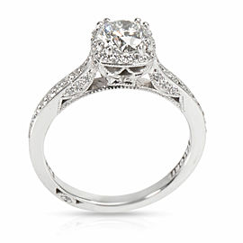 Tacori Dantela Halo Diamond Engagement Ring in Platinum IGI Certified G SI2