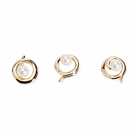 Vintage Tiffany & Co. Pearl Buttons in 14K Yellow Gold