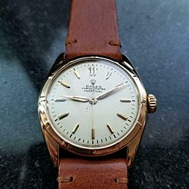ROLEX Men's 18K Rolex Perpetual Chronometer ref.6085, c.1963 Swiss Vintage LV821