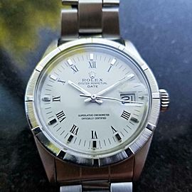 ROLEX Men's Oyster Perpetual Date 1501 Automatic c.1971 Swiss Luxury MS128