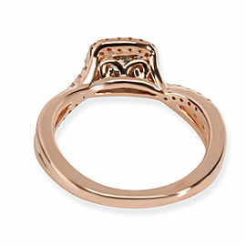 Halo Diamond Engagement Ring in 14K Rose Gold F-G SI2 0.5 CTW