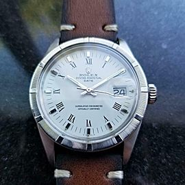 Men's Rolex Oyster Perpetual Date 1501 Automatic, c.1971 Swiss Vintage MS128BRN