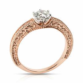 Round Cut Diamond Ring in 18K Rose Gold J-K VS 0.51 CTW