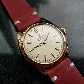 Men's Rolex 18K Rose Gold Chronometer Perpetual ref.6085 c.1963 Vintage LV821RED