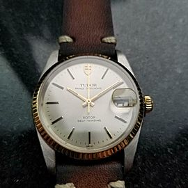 Men's Tudor Prince Oysterdate 74033 34mm 18k & ss Automatic, c.1990s LV920BRN