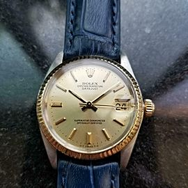 Midsize Rolex Datejust Ref.6827 31mm 18k Gold & SS Automatic, 1970s LV912BLU