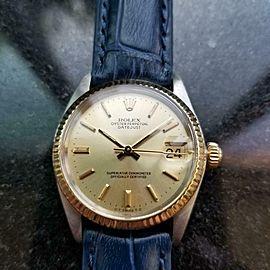 Midsize Rolex Datejust Ref.6827 31mm 18k Gold & SS Automatic, 1970s LV912BLU