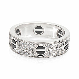 Cartier LOVE Diamond Band in 18K White Gold/Ceramic 0.74 CTW