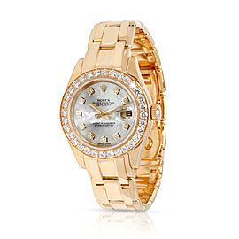 Rolex Pearlmaster 80298 Women's Diamond Watch in 18kt Yellow Gold