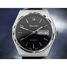 Bulova Swiss Vintage Stainless Steel Automatic 1970s Mens 35mm Watch DN149