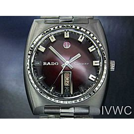 Rado Conway Mens Vintage 35mm Swiss Day Date Automatic Rare Watch 1960s J6593