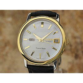 Citizen Crystal 7 Vintage Men's 37mm 1960s Vintage Made in Japan Auto Watch EE25