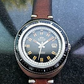 Men's Royce Diver Jumbo Automatic 43mm, c.1960s Vintage Stainless LV232BRN
