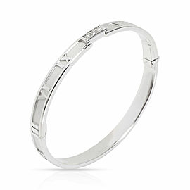 Tiffany & Co. Atlas Diamond Bangle in 18K White Gold 0.15 CTW