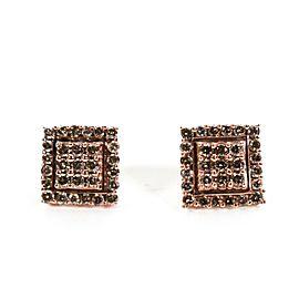 Diamond Earrings - 2.0 CTW - 14K Rose Gold - Square - Studs