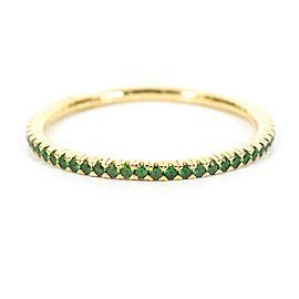 Mattia Cielo - 7 ctw Tsavorite Tennis Bracelet - 14K Yellow Gold - Stretch