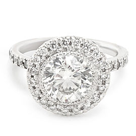 IGI Certified Diamond Engagement Ring in 14KT White Gold (1.90 ct H-I/SI1-SI2)