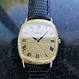 Men's Piaget Midsize/Unisex 18K Gold Ref.9228 27mm Hand-Wind, c.1990s LV517BLK