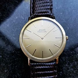 Piaget Mens 32mm Vintage 18k Gold 1960s Automatic Swiss 12603 Swiss Watch LV387