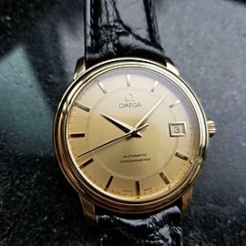 OMEGA Men's 18K Solid Gold 35mm 2000s Chronometer Automatic cal.1109 Swiss LV486