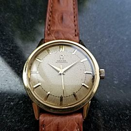 OMEGA Mens 18K Solid Gold 1950s 33mm Bumper Automatic Rare Vintage Swiss LV489