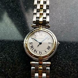 Unisex Cartier Panthere 18k Gold & SS 30mm Quartz, c.1990s Swiss Luxury BB11
