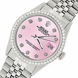 Rolex Datejust Steel 36mm Jubilee Watch/1.1CT Diamond Light Pink Dial