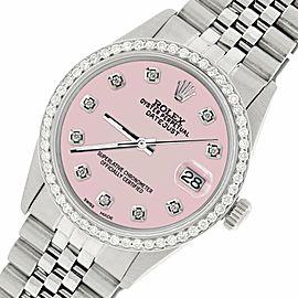 Rolex Datejust Steel 36mm Jubilee Watch/1.1CT Diamond Orchid Pink Dial