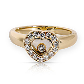 Chopard Happy Icons Heart Diamond Ring in 18KT Yellow Gold 0.24 CTW