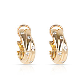 Cartier Constellation Diamond Earrings in 18K Yellow Gold 0.33 CTW