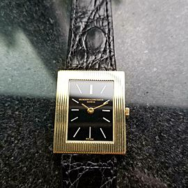Men's Midsize 23mm Unisex Vacheron & Constantin 18k Gold Dress Watch c.1980s B22