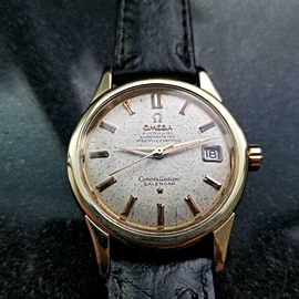 OMEGA Men's 1950s Gold-Capped 34mm Constellation Calendar Automatic Watch LV651