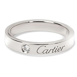 Carter 'C de Cartier' Unisex Diamond Wedding Band