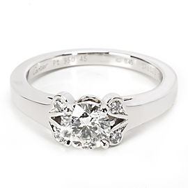 Cartier Ballerine Diamond Engagement Ring in Platinum GIA H VVS1 0.49 CTW