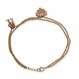 Return to Tiffany Heart Tag Keys Diamond Bracelet in 18K Rose Gold 0.21 CTW