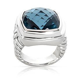 David Yurman Blue Topaz Albion Ring in Sterling Silver