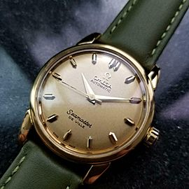 Men's Omega Seamaster DeVille 34mm Gold-Capped Automatic Watch, c.1950s LV945