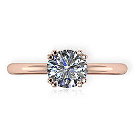 GIA Certified Diamond Engagement Ring in 14KT Gold F VS1 0.94 CT