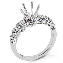 BRAND NEW Diamond Engagement Ring Setting in 14K White Gold (0.58 CTW)